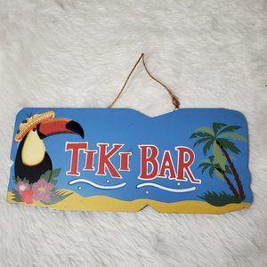 TIKI BAR WOOD SIGN WALL ART ISLAND TROPICAL PATIO
